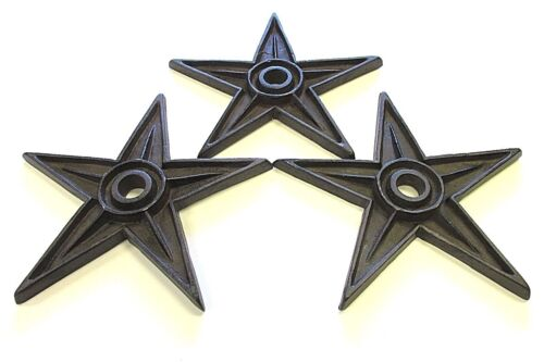 3  LARGE   CAST IRON  TEXAS   AMERICANA  STAR  OLD  BUILDING  TOOL   CRAFT