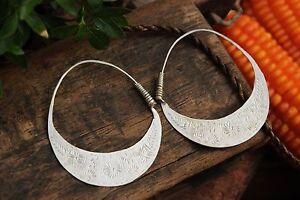Handmade Earrings Ethnic Hmong tribal FAIR TRADE hippy boho Hoop Loop Drop Big