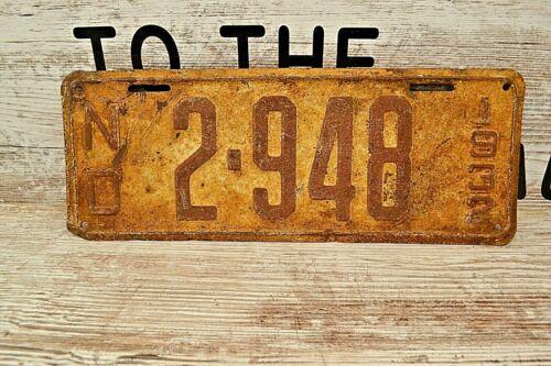 1932 North Dakota License Plate