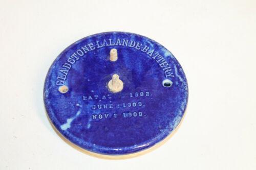 Antique Vintage Gladstone Lalande Edison Battery Stoneware Jar Lid
