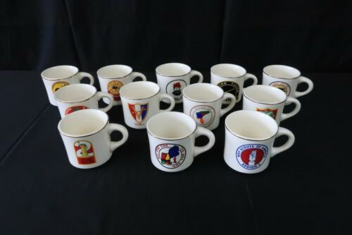 (Full Set of 12)- Boy Scouts of America Region Coffee Mugs- VINTAGE Collectible