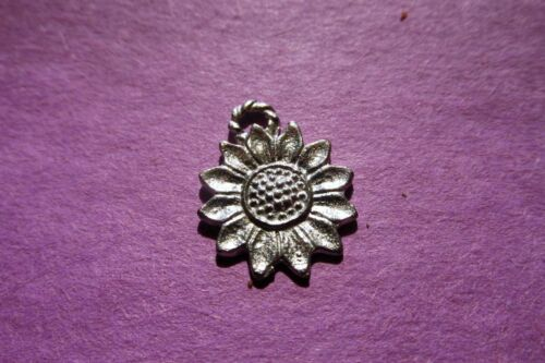 20  Pewter  Sunflower Charms