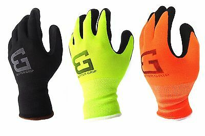 Better Grip Knit Latex Dip Nylon Sandy Latex Coated Work Gloves-BGS1 ()