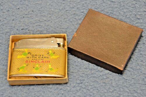 RARE NOS Vintage Sinclair Oil Advertising Dino Cigarette Lighter Gas Station