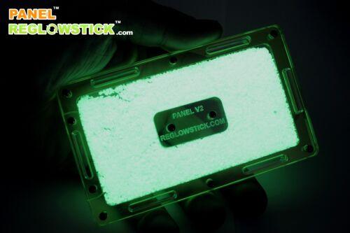 REGLOWSTICK ™ FLUORESCENCE KEYCHAIN- PANEL - GREEN LIGHT MARKER GLOW STICK