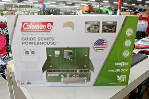 NEW Coleman Powerhouse Guide Series 2 Burner Dual Fuel & White Gas Camping Stove
