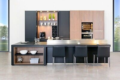 Modern Kitchen cabinets-Luxury Cabinetry-Italian style Kitchen with Pocket door