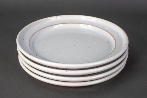"Dansk Nielstone White Oatmeal Speckled 10"" Dinner Plates Niels Refsgaard Japan"