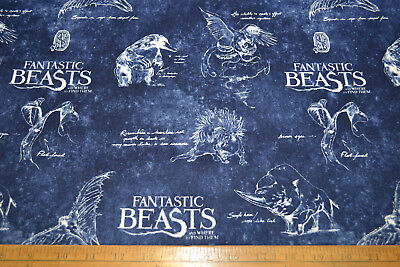 FANTASTIC BEASTS - HARRY POTTER Fabric 100% cotton material