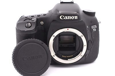 Canon EOS 7D 18.0 MP Digital SLR Camera - Black (Body Only) Shutter Count :1020
