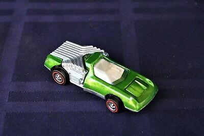Vintage Hot Wheels Redline Noodle Head Metallic Olive Very Nice