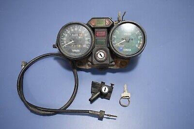 1977 Yamaha RD400 Speedometer Tachometer Gauge Cluster Ingntion KEY Helmet lock