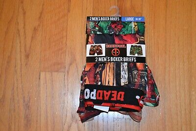 Marvel Deadpool 2pk Holiday/Christmas Boxer Briefs Men's Size: Large (36-38)