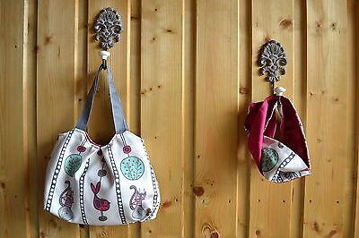Dawanda Handmade Handtasche Kinder Set Loop Schal Pink Vögel Mutter Tochter Look