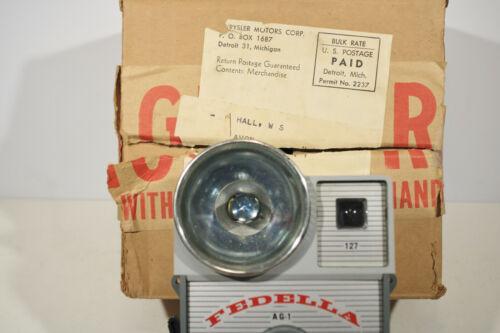 1960's Chrysler Corp. Promotion, Fedella AG-1 Camera in the Chrysler Mailer Box