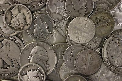 1 STANDARD OUNCE 90% SILVER JUNK COINS 1 HALF DOLLAR INCLUDED BULLION HOT ITEM