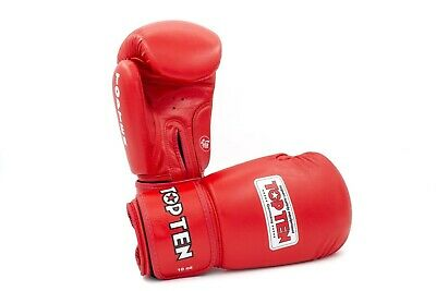 Golden Kids Top Ten Pow Boxing Glove DX Fight Wear Black Red