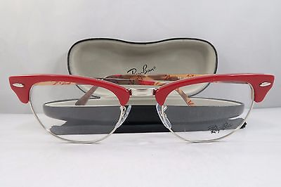 Ray-Ban RB 5154 5651 Clubmaster Red/Logo New Authentic Eyeglasses 49mm w/Case