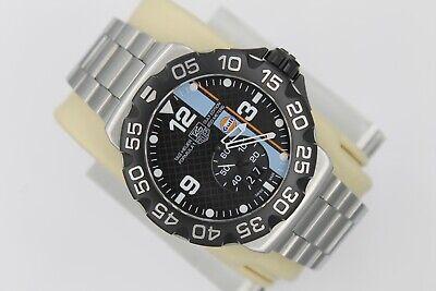 Tag Heuer WAH1013.BA0860 Gulf Oil Formula 1 Grande Date Watch Mens Black Mint -
