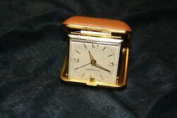 Vintage Westclox Wind Up Red Travel Alarm Clock Luminous 1960s Japan in Box