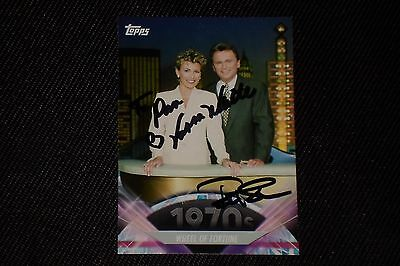 Pat Sajak   Vanna White 2011 Topps Ap Signed Autographed Card Wheel Of Fortunte