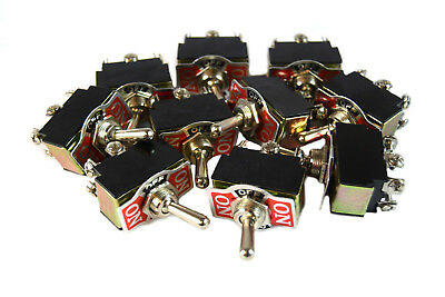 10 Pieces Dpdt 10-amp Toggle Switch With On Center Off Position Heavy Duty