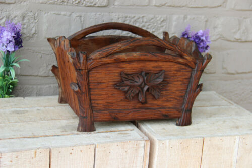 Antique French wood carved planter jardiniere