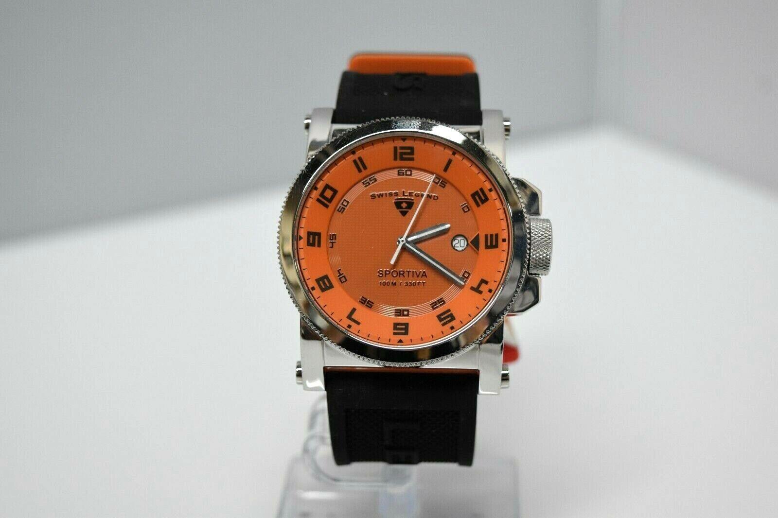 Swiss Legend Sportiva 45mm SL-40030 Watch Black/Orange