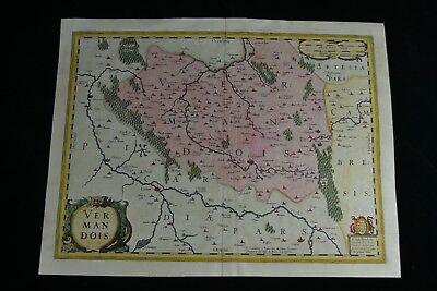 1633 Large Antique Map France