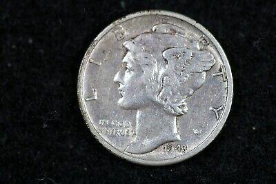 ESTATE FIND 1943 - D Mercury Dime J02344 - $3.00