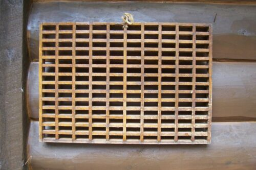 """Antique Wood Cold Air Return Wall or Floor Grate Wooden Vent Vintage 20 x 14"""""""