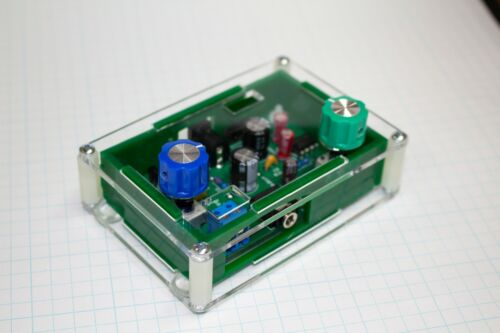 MORSE CODE/TELEGRAPH CW OSCILLATOR - PITCH VARIABLE - TWIN T VERSION - WITH CASE