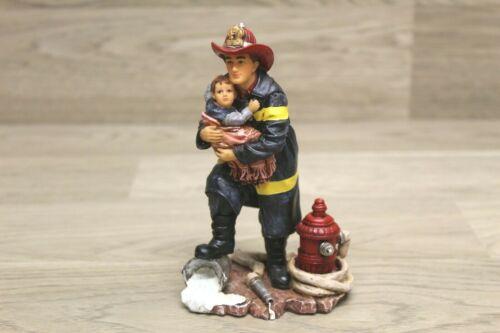 Vanmark Hero Red Hats of Courage Firefighter Figurine 1999 Fireman Boy w/Box  T1
