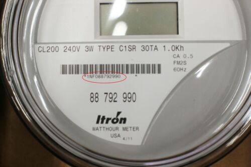 NEW ITRON  WATTHOUR METER (KWH) C1SR  CENTRON  220 VOLTS, FM1S, 200 AMPS, 4 LUGS