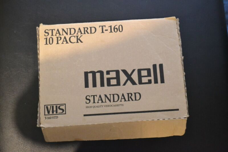 (2) Standard T-160 10 Pack Maxell Standard VHS High Quality Videocassette20total