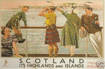 Vintage Railway Advert Jumbo Fridge Magnet Scotland