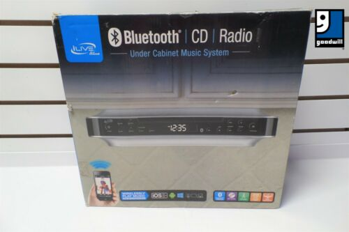 Kitchen iLive Under Counter Cabinet Stereo Radio Bluetooth CD Player Music