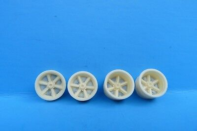 1/25TH SCALE 1970'S EAGLE INDYCAR RESIN RIMS,  1 SET, CART, INDY RESIN, USAC
