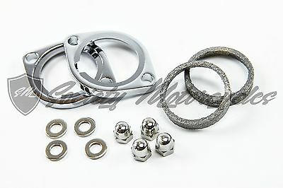 Harley Davidson Exhaust Flange Install Kit For 1984-2014 Gaskets and Hardware HD
