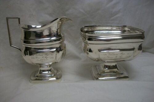Joel Sayre American Coin Silver Creamer & Waste Bowl