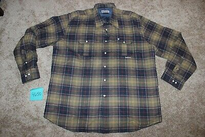 Barbour Notting Classic Tartan Button Up XL Quilted Shirt Jacket #4650