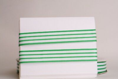 White Stripe Grosgrain (GREEN White Stripes 1