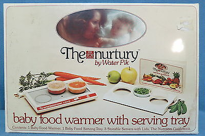Vintage The Nurtury by Water Pik Baby Food Warmer w Serving Tray 1977