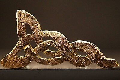 Ancient Viking Solid GOLD Amulet depicting Twisted Norse Knot, circa 950-1000 Ad