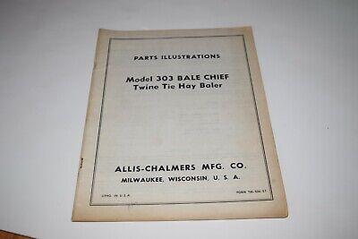 Allis Chalmers Model 303 Bale Chief Twine Tie Hay Baler Parts Illustrations