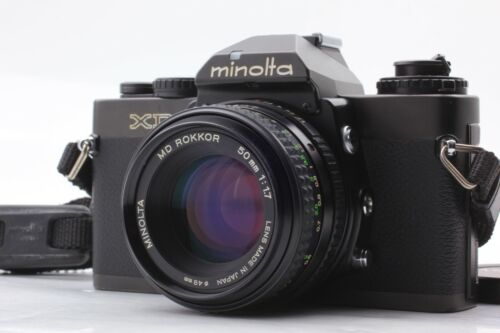 【NEAR MINT+++】 MINOLTA XD Late Model SLR Film Camera MD 50mm f/1.7 MF Lens Japan