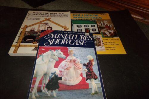Lot 3 Vintage Miniatures DollHouses & Miniatures Mansons Period Funiture