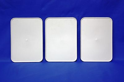 NEW 3-pak 7x10 White Plastic Number Plate ATV Racing ATVA AMA LEGAL TRX YFZ LTR