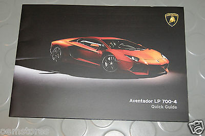 2014 2015 Lamborghini Aventador LP 700-4 Quick Guide Manual Coupe
