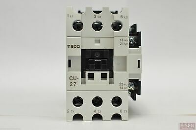 Teco Cu-27 Magnetic Contactor 45 Amp 3 Phase 24v Coil 3a1a1b No And Nc